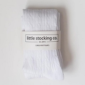 Little Stocking Co. Cable Knit Tights - White