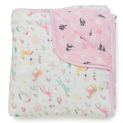 Loulou Lollipop Luxe Muslin Quilt Blanket - Unicorn Dream
