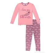 KicKee Pants Print Long Sleeve Pajama Set - Pegasus Sea Otter