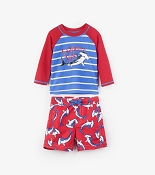 Hatley Loop-The-Looping Hammerhead Mini Swim Trunks & Rash Guard *CLEARANCE*