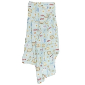 Loulou Lollipop Luxe Muslin Swaddle - Breakfast Blue