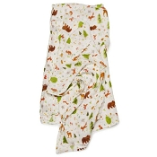Loulou Lollipop Luxe Muslin Swaddle  - Forest Friends