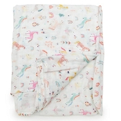 Loulou Lollipop Luxe Muslin Swaddle - Unicorn Dream