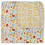 Loulou Lollipop Luxe Muslin Quilt Blanket - Cutie Fruits