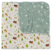 Loulou Lollipop Luxe Muslin Quilt Blanket - Forest Friends