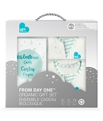 Love to Dream Gift Set - 2 Organic Newborn Swaddles + Milestone Cards