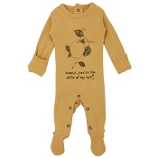 L'ovedbaby Organic Graphic Footie - Honey Apple