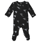 L'ovedbaby Organic Graphic Footie - Scribbles