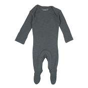 L'ovedbaby Pointelle Lap-Shoulder Baby Footie - Moonstone
