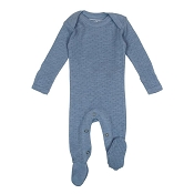 L'ovedbaby Pointelle Lap-Shoulder Baby Footie - Pool