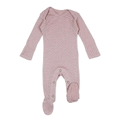 L'ovedbaby Pointelle Lap-Shoulder Baby Footie - Thistle