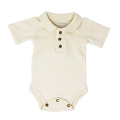 L'ovedbaby Polo Bodysuit - Beige Dots