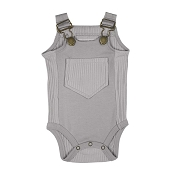 L'ovedbaby Ribbed Bodysuit - Light Grey