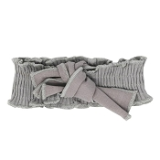 *L'ovedbaby Ribbed Smocked Headband - Light Grey (Size 0-12 Months)