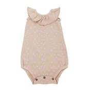 L'ovedbaby Ruffled Bodysuit - Rosewater Dots