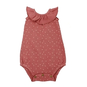 L'ovedbaby Ruffled Bodysuit - Sienna Dots