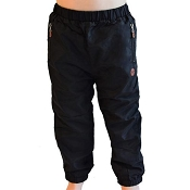 L&P Cotton Lined Outerwear Pants - Black with palm leaf lining  (Size 6-12 Months) *CLEARANCE*