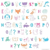 *A Little Lovely Company Lightbox Letter Set: ABC Pastel