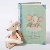 *Maileg Angel Mouse in a Book - Big Sister