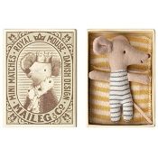 *Maileg Baby Mouse Sleepy/Wakey in Box - Boy