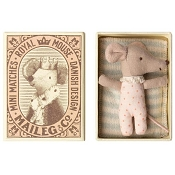 *Maileg Baby Mouse Sleepy/Wakey in Box - Girl