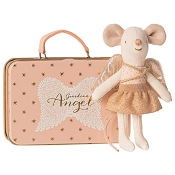 *Maileg Guardian Angel in a Suitcase - Little Sister Mouse