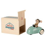 *Maileg Mouse Car & Garage - Blue