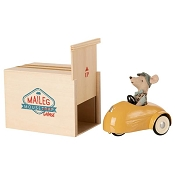 *Maileg Mouse Car & Garage - Yellow