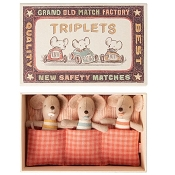 *Maileg Baby Mouse Triplets in a Matchbox