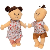 *Manhattan Toy Company Wee Baby Stella Twins Peach