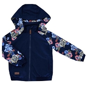 L&P Apparel Urban Style Jacket - Floral Navy