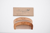 Mariposah Peach Wood Combs - 2 pack