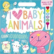 *I Love Baby Animals Giant Colouring Pad