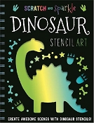 *Scratch & Sparkle - Dinosaur Stencil Art Activity Book