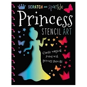 *Scratch & Sparkle - Princess Stencil Art