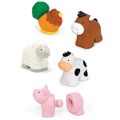 *Melissa & Doug Pop Blocs Farm Animals Learning Toy