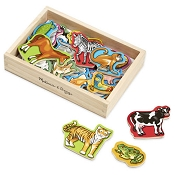 *Melissa & Doug Wooden Animal Magnets