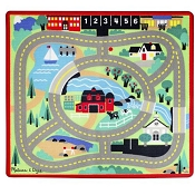 *Melissa & Doug Round the Town Road Rug & Car Set