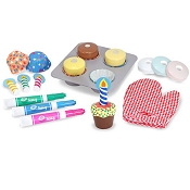 *Melissa & Doug Bake & Decorate Cupcake Set