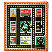 *Melissa & Doug Round The City Rescue Rug & Vehicle Set