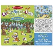 *Melissa & Doug Color-Your-Own Sticker Pad - Animals