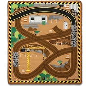 *Melissa & Doug Round the Construction Zone Work Site Rug & Vehicle Set