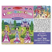 *Melissa & Doug Color-Your-Own Sticker Pad - Dress-Up