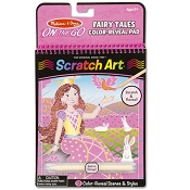 *Melissa & Doug On the Go Scratch Art Color Reveal Pad - Fairy Tales