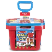 *Melissa & Doug Fill & Roll Grocery Basket Play Set