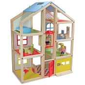*Melissa & Doug Hi-Rise Wooden Dollhouse and Furniture Set