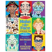 *Melissa & Doug Make-a-Face Crazy Characters Stickers Pad