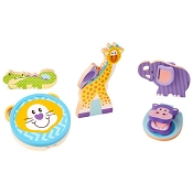 *Melissa & Doug First Play Wooden Touch and Feel Puzzle Peek-a-Boo Pets With Mirror