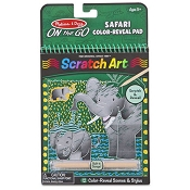 *Melissa & Doug On the Go Scratch Art Color Reveal Pad - Safari