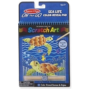 *Melissa & Doug On the Go Scratch Art Color Reveal Pad - Sea Life